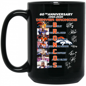 60th Anniversary Denver Broncos 1960 2020 Mug Coffee Mugs