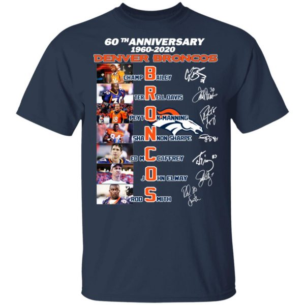 60th Anniversary Denver Broncos 1960 2020 Shirt, Hoodie, Tank Apparel