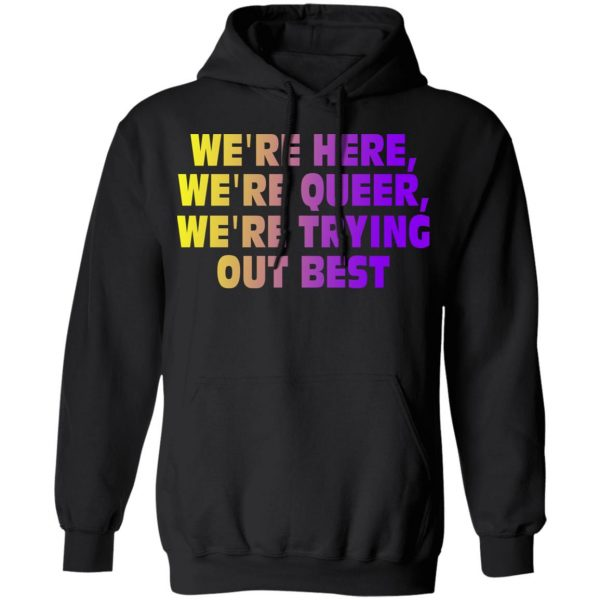 We're Here We're Queer We're Trying Out Best Shirt, Hoodie, Tank Apparel