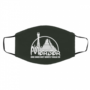 Mordor One Does Not Simply Walk In Face Mask New Arrivals