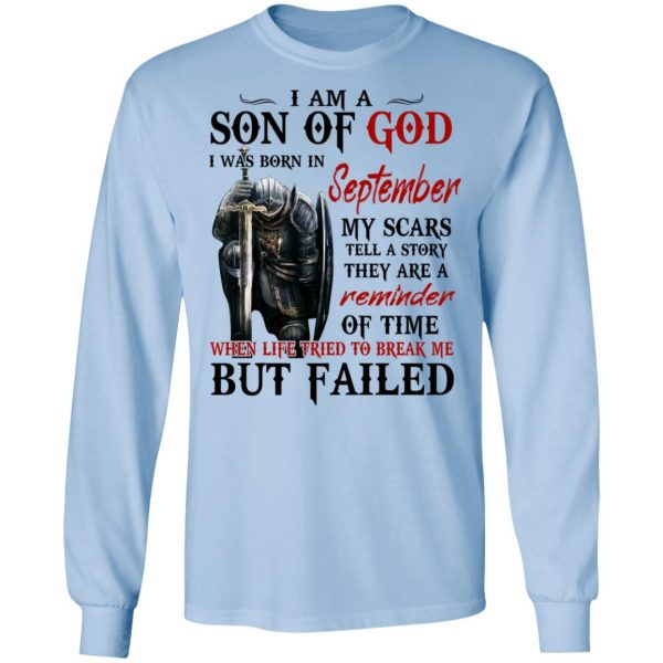 I Am A Son Of God And Was Born In September Shirt, Hoodie, Tank Apparel 11