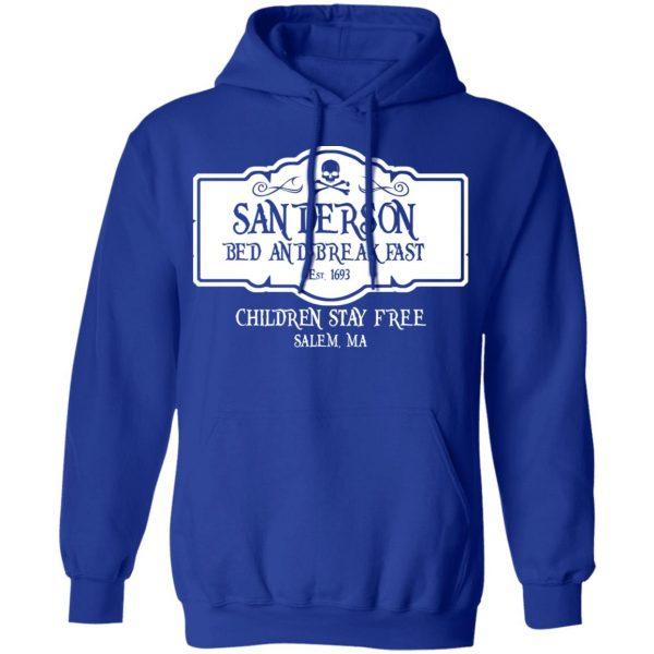 Sanderson Bed And Breakfast Est 1963 Children Stay Free Shirt, Hoodie, Tank Apparel