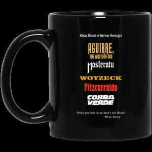 Aguirre The Wrath Of God Nosferatu Woyzeck Fitzcarraldo Cobra Verde Mug Coffee Mugs