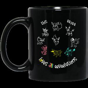 This Eevee Loves All Eeveelutions Pokemon Mug Coffee Mugs