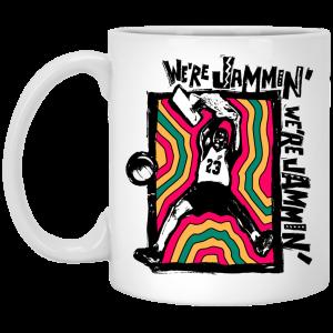 We're Jammin' Bob Marley Michael Jordan 23 Mug Coffee Mugs