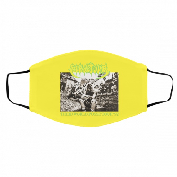 Sepultura Third World Posse Tour 92 Face Mask Face Mask 15