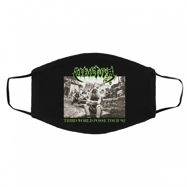 Sepultura Third World Posse Tour 92 Face Mask Face Mask 5