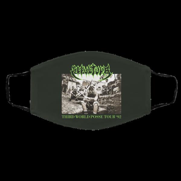 Sepultura Third World Posse Tour 92 Face Mask Face Mask 7