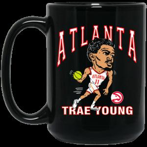 Atlanta Trae Young Hawks Caricature Mug Coffee Mugs 2