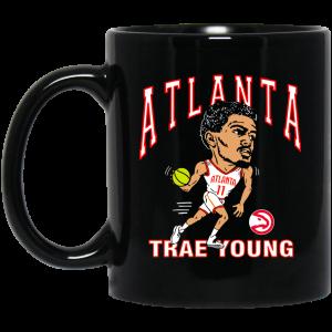 Atlanta Trae Young Hawks Caricature Mug Coffee Mugs