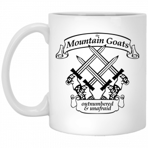 The Mountain Goats Outnumbered And Unafraid Mug Coffee Mugs