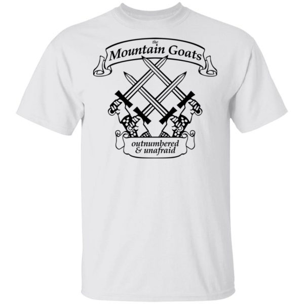 The Mountain Goats Outnumbered And Unafraid Shirt, Hoodie, Tank Apparel 4