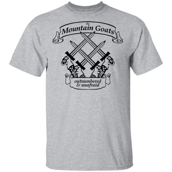 The Mountain Goats Outnumbered And Unafraid Shirt, Hoodie, Tank Apparel 5