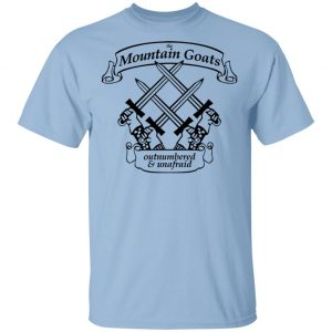 The Mountain Goats Outnumbered And Unafraid Shirt, Hoodie, Tank Apparel