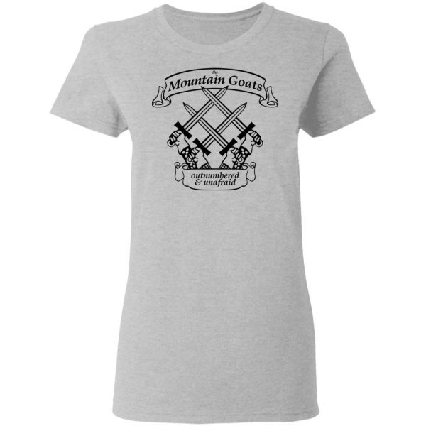 The Mountain Goats Outnumbered And Unafraid Shirt, Hoodie, Tank Apparel 8