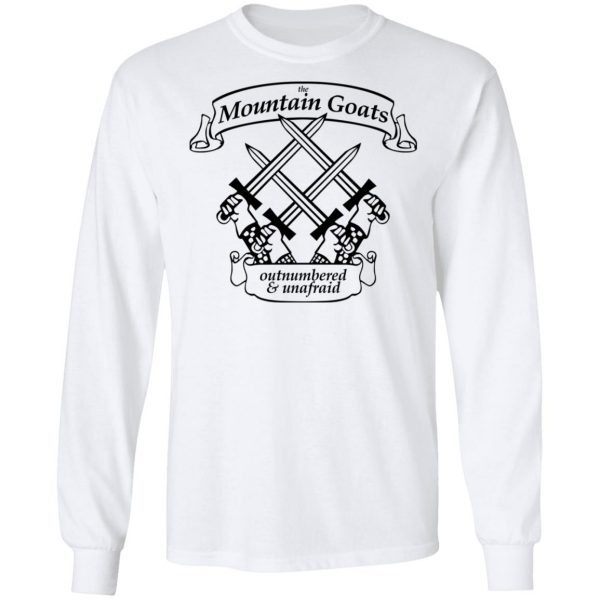The Mountain Goats Outnumbered And Unafraid Shirt, Hoodie, Tank Apparel 10
