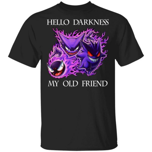 Hello Darkness My Old Friend Gengar Pokemon Shirt, Hoodie, Tank Apparel 3