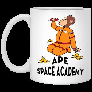 Ape Space Academy Monkey Astronaut Mug Coffee Mugs