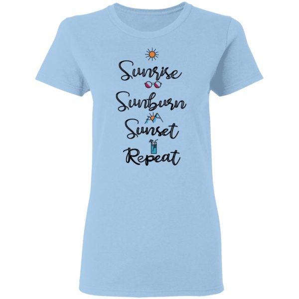 Sunrise Sunburn Sunset Repeat Shirt, Hoodie, Tank Apparel 6