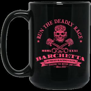 Barchetta Sunday Racing Club Run The Deadly Race Mug Coffee Mugs 2