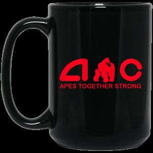 AMC Apes Together Strong AMC To The Moon Mug Coffee Mugs 2