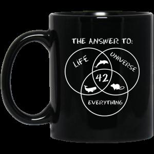 42 The Answer To Life Universe Everything Mug Coffee Mugs